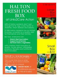 Halton Fresh Food Box flyer
